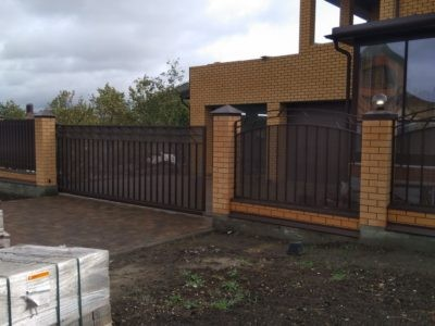 Монтаж ограждения и откатных ворот - Дубрава